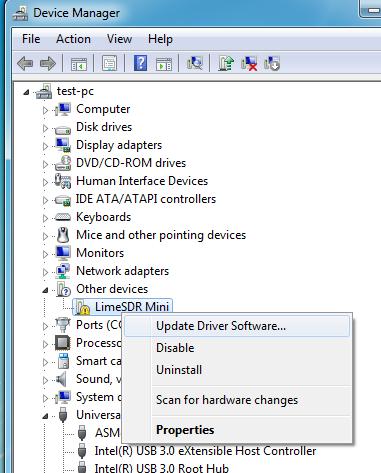 LimeSDR Windows Driver Installation - Myriad-RF Wiki