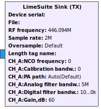 Gr-limesdr Plugin for GNURadio - Myriad-RF Wiki