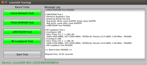 Testing the LimeSDR - Myriad-RF Wiki